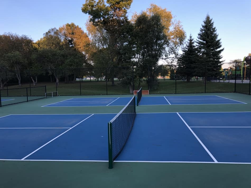 temporary pickleball court lines