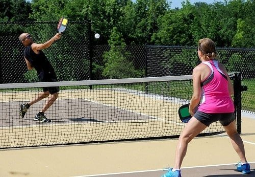 can you hit overhand in pickleball?